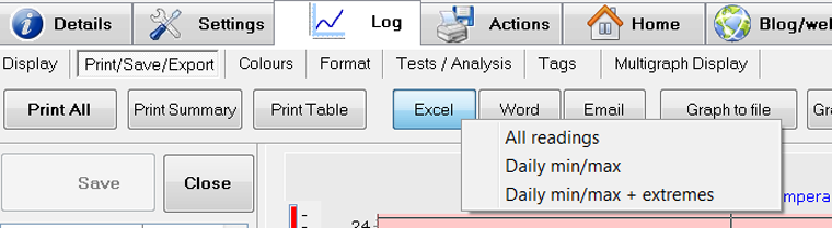 eTemperature V8.24 – Excel Export and Dual Slider